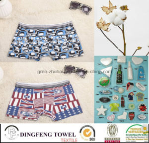 2015 Promotional Compressed Traveling Printed Boxer Underwear pictures & photos