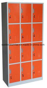 12 Door Compartments Steel Storage Locker pictures & photos