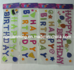 Brithday Glitter Window Gel Clings pictures & photos