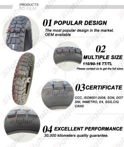 Top Quality Super Cheap Size 110/90-16 Motorcycle Tire pictures & photos