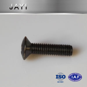 Oval Head Cross Drives Machine Screw with Black Zinc Plated pictures & photos