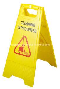 Plastic Foldable Wet Floor Caution Sign pictures & photos