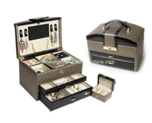 Leather Jewelry Box/ Storage with Travel Case and Lock pictures & photos