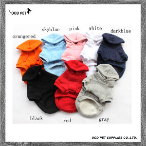 Different Colors of Plain Purified Cotton Pet Clothes, Dog Hoodies (SPH6001) pictures & photos