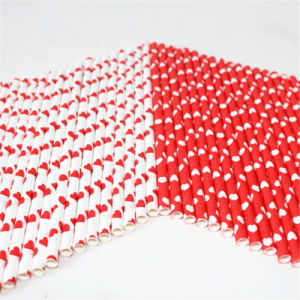 Beautiful Heart Paper Drinking Straws for Wedding Party pictures & photos