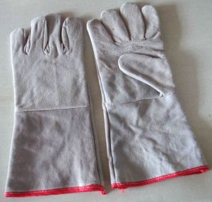"Cow Split Leather Welder Glove, Safety Leather Welder Gloves, 14"" Welding Gloves pictures & photos"