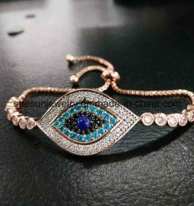 925 Silver Jewelry Evil Eye Bracelet Rose Plating Greek Eye pictures & photos