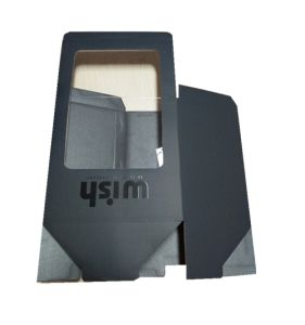 Black Carton Corrugated Box Flute Paper Box with Spot UV