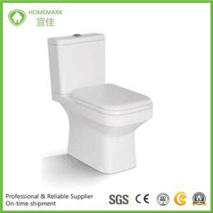 Good Quality Super White Two Pieces Wc Toilet for UK Market pictures & photos