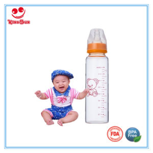 8oz High Borosilicate Glass Baby Bottles with Soft Nipple pictures & photos
