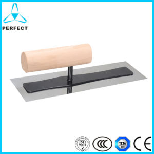 The Traditional Wooden Handle Plastering Trowel pictures & photos