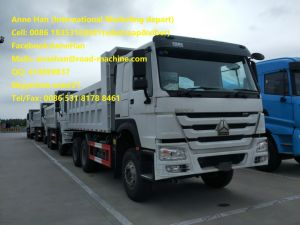 Sinotruk White Color 371HP HOWO7 Left Hand Drive Euro 2 Tipper Truck 10tires for Construction Material Transportation of 2017 New Model pictures & photos