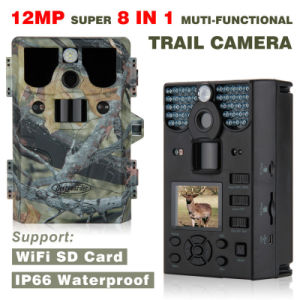 12MP WiFi Function 8 in 1 Trophy Camera HD 1080P with Predator Call Function IP66 up to 85ft pictures & photos