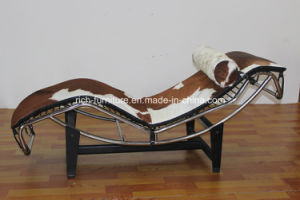 Hotel Living Room Pony Leather Furniture LC4 Chaise Lounge Chair pictures & photos