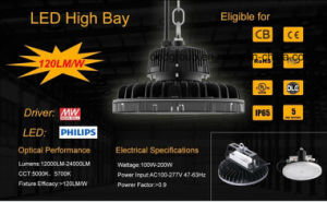 Philips LED Chip with Meanwell Driver UFO LED High Bay Light pictures & photos