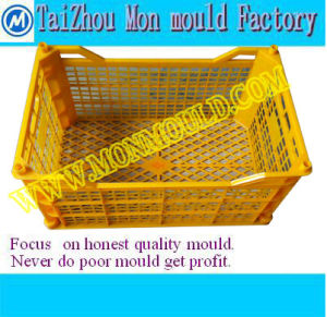 Plastic Mould for Folding Stackable Beer/Wine Crate Barrel pictures & photos