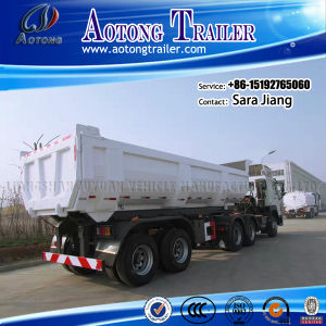 New 60 Tons 3 Axles Sand Transportation Rear Tipper Trailer pictures & photos