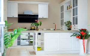 Kitchen Size for Customized Wooden PVC Kitchen Cabinet Furniture (zc-030) pictures & photos
