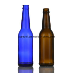 330ml Blue Color Glass Beer Bottle pictures & photos