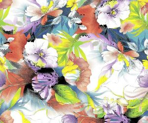 Neswest Design Printed Polyester Chiffon Fabric for Garment pictures & photos