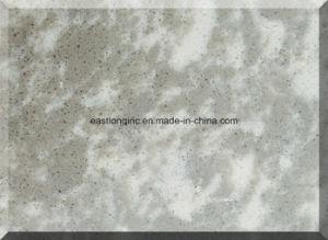 Artificial Marble, Quartz Stone Cut to Size Big Slab, White Color Grey Vein pictures & photos