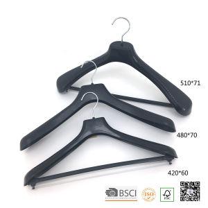 Metal Trouser Clips Transparent Plastic Suit Clothes Hanger pictures & photos