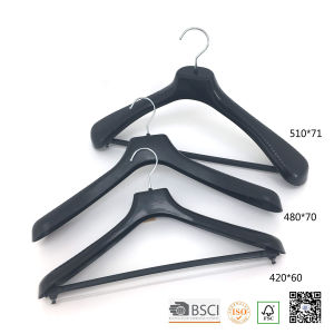 Metal Trouser Clips Transparent Plastic Suit Clothes Hangers for Jeans pictures & photos