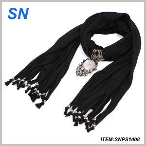 Pendant Scarf with Lovely Decoration (SNPS1008) pictures & photos
