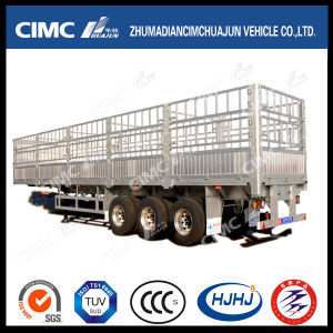 Cimc Huajn Lightweight 3 Axles Aluminium Alloy Cargo Stake Semi-Trailer pictures & photos