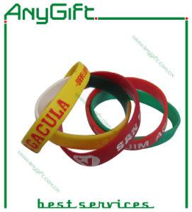 Silicon Wristband/Bracelet with Customized Logo (LAG-WB-08) pictures & photos