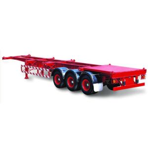 3 Axles 40ft or 2*20ft Container Skeleton Trailer pictures & photos
