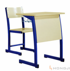 Metal School Desk and Chair, Classroom Student Table and Chair, School Furniture pictures & photos