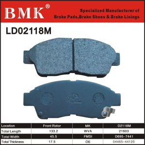 High Quality Brake Pads (D2118M) pictures & photos