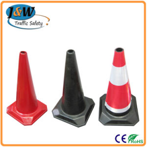 "28"" Fluorescent Orange Road Safety PVC Traffic Cone with CE pictures & photos"