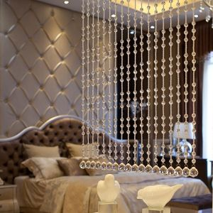 Glass Crystal Home Decoration of Faceted Beaded Curtain pictures & photos