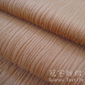 Burn-out Stripe Pattern Home Textile Short Pile Velour Fabrics pictures & photos