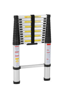 En131 Approved Aluminum Telescopic Ladder with 12 Step pictures & photos