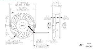 172mmx172mmx50.8mm Aluminum Housing Plastic Impeller DC Axial Fan pictures & photos