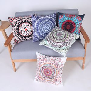 Digital Print Decorative Cushion/Pillow with Geometric Pattern (MX-70) pictures & photos