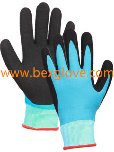 13 Gauge Nylon Liner, Nitrile Coating, Double Coated, Micro-Foam Finish Work Glove pictures & photos