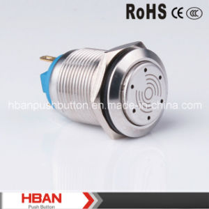 Hban (19mm) Pin Terminal Stainless Steel Can Illumination Buzzer pictures & photos