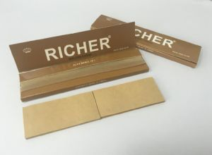 Richer Premium Unbleched Brown Hemp Cigarette Smoking Paper pictures & photos