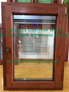 American Style Inside Opening Glass Tilt & Turn Window, Solid Oak Wood Casement Window for Spain Clients pictures & photos