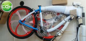 Blue Color Mag Wheel Motorized Bicycle, Fuel Gasoline Motor, Engine Bicycle pictures & photos