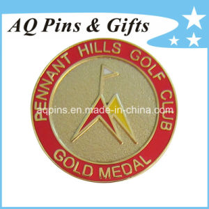 Gold Metal Badge with Imitation Cloisonne (badge-058) pictures & photos
