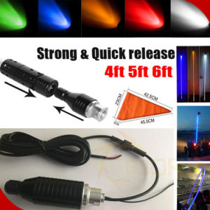 Auto Accessories Strong Quick Release LED Antenna Light Green Red White 4FT 5FT 6FT RGB LED Safety Light pictures & photos