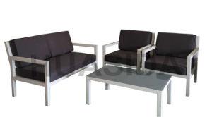 Anti-Aging UV Resistant White Aluminum Sofa Set for Outdoor pictures & photos