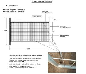 Hot Sale Welded Temporary Fencing Panels pictures & photos