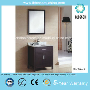 Export Floor Mounted MDF Bathroom Furniture Bathroom Vanity Cabinet (BLS-NA035) pictures & photos
