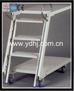 Warehouse Equipment/Warehouse and Supermarket Ladder Trolley/Step Ladder with Tray (YD-FT002) pictures & photos